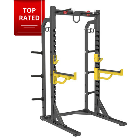 Commercial Half Rack with Plate Storage
