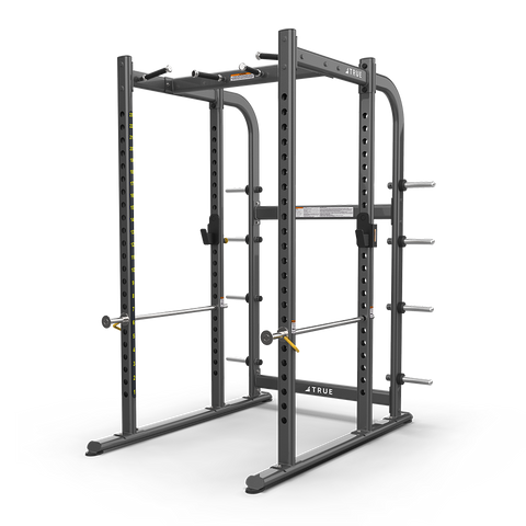 True Fitness XFW-7900 Power Rack with Plate Holders