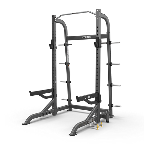 True Fitness XFW-8100 Half Rack with Plate Holders