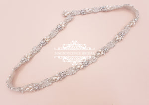 Pearl and crystal belt OLIVIA