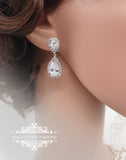 Crystal drop earrings ANNA