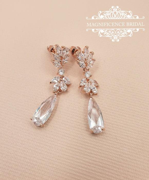 Bridal drop earrings CHLOE