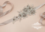 Lace bridal sash belt KATE