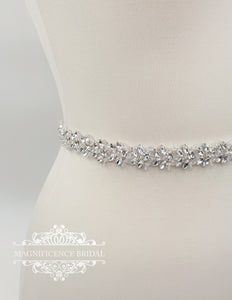 Beaded bridal belt ALLISON