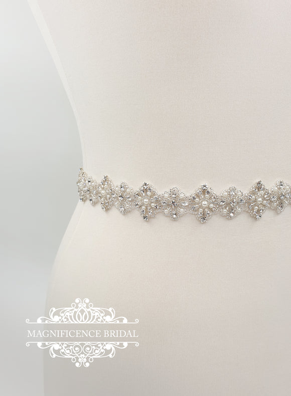 Beaded bridal belt MARY