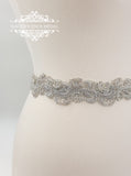 Silver bridal belt LINDA