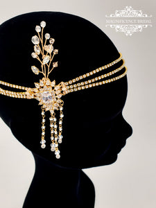 Great Gatsby gold headpiece DAISY
