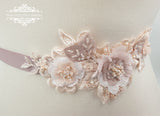 Blush wedding sash belt DAGNE