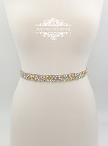 Gold rhinestone belt STACY