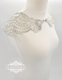 Art Deco bridal cover up capelet TULIP
