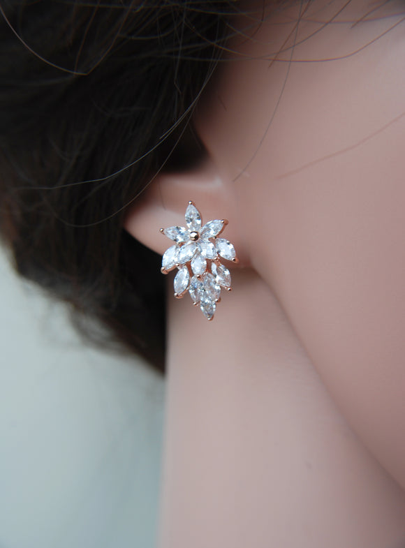 magnificencebridal-com,Small zircon stud earrings RENEE,Earrings.