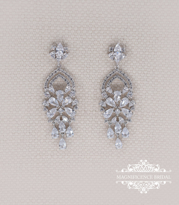Chandelier earrings EMMA - magnificencebridal-com