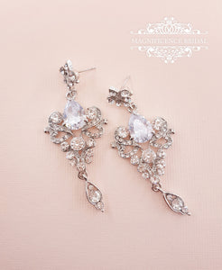 Victorian earrings MARGOT - magnificencebridal-com
