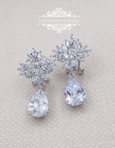 Bridal drop earrings LARISA - magnificencebridal-com
