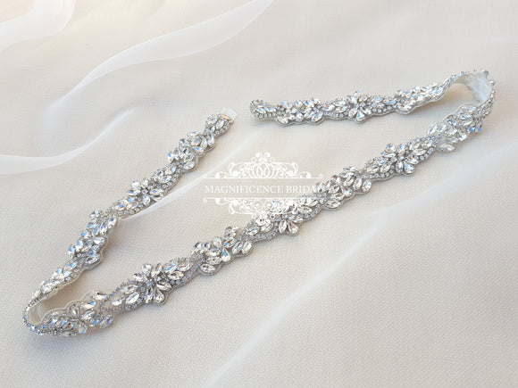 Wedding dress belt TARA - magnificencebridal-com