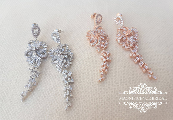 Bridal earrings ARIA - magnificencebridal-com
