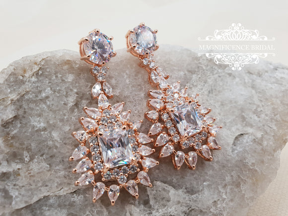 Bridal earrings LILA - magnificencebridal-com
