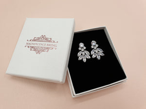 Bridal stud earrings SONIA - magnificencebridal-com