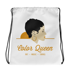 COLORQUEEN Golden Hue Drawstring Bag