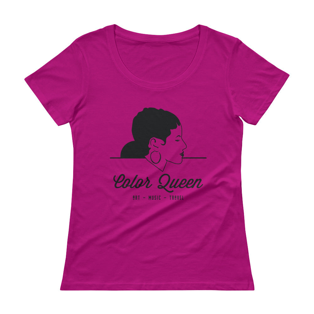 COLORQUEEN Rasberry Scoopneck T-Shirt