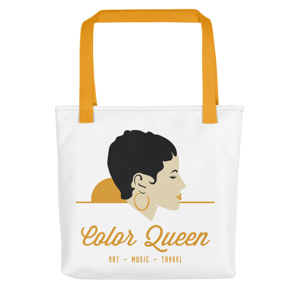 COLORQUEEN White and Gold Tote bag
