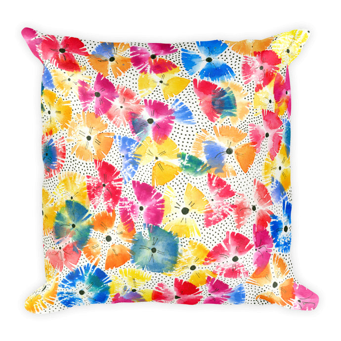 COLORQUEEN Floral Fanfare Throw Pillow