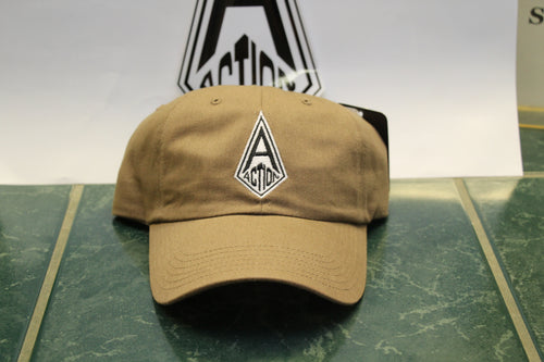 Brown Action Diamond Dad Hat
