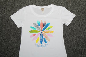 Surfboard Circle Ladies T-shirt