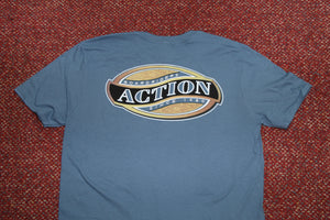 Action Classic Woodgrain Oval