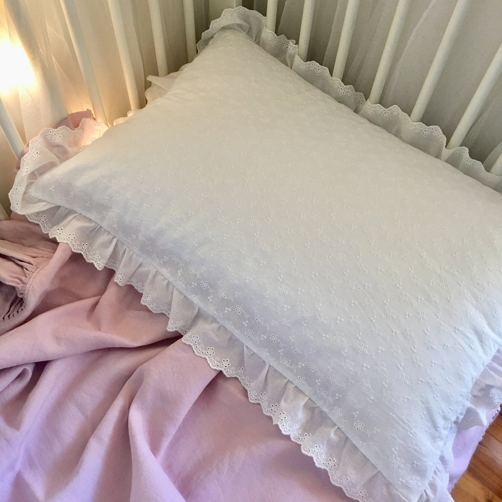 Broderie Anglaise Pillowcase