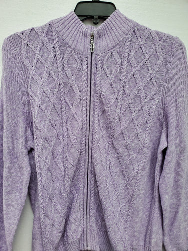Zippered Front Cardigan