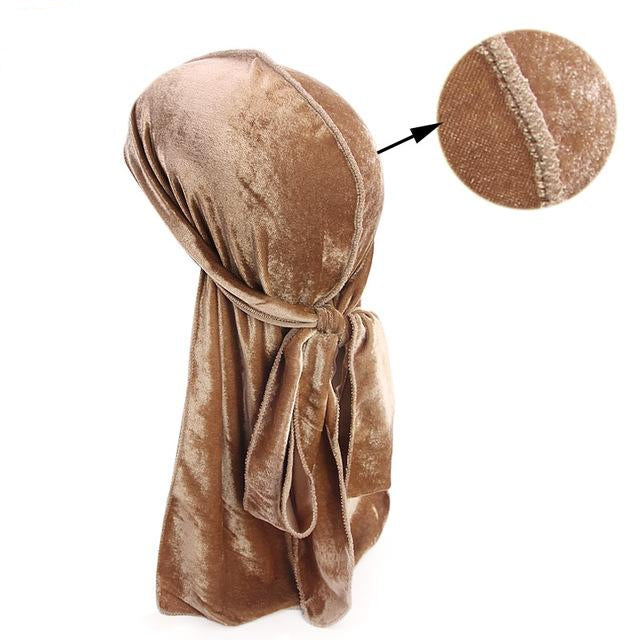 Light Brown Velvet Durag