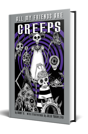 All My Friends Are Creeps [Signed] Bundle w/ Enamel Pin