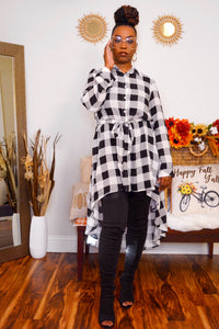 Plaid High Low Dress - FINAL SALE
