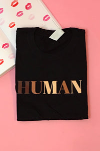 Human Graphic Tee (Black) - FINAL SALE
