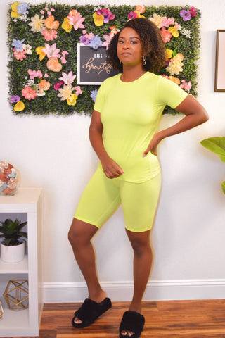 Two-Piece Short Set (Lime)