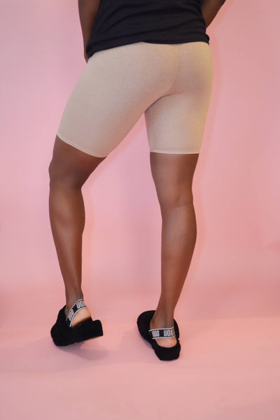 High-Rise Biking Tights (Camel)