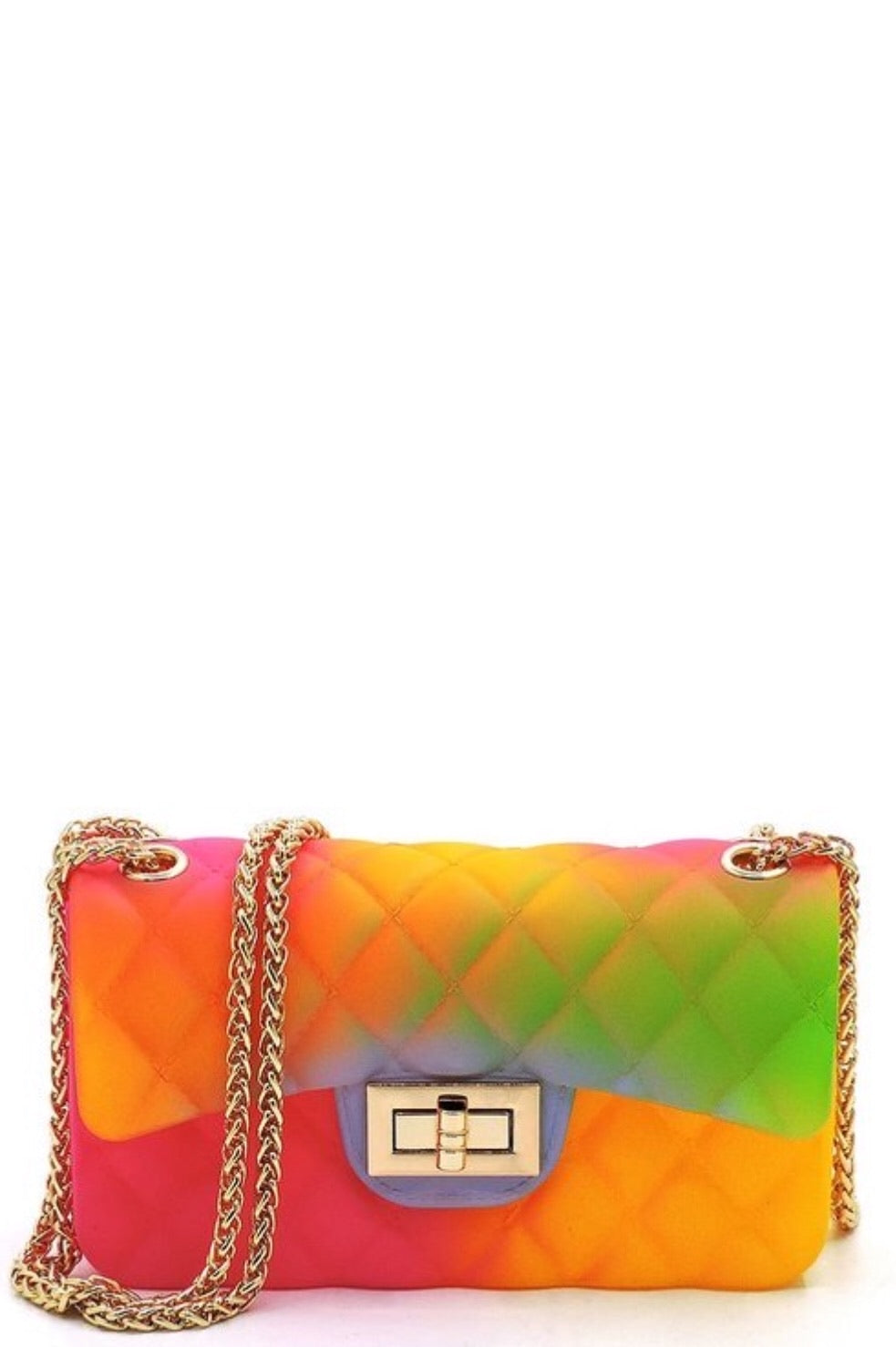 Tropical Quilt Embossed Jelly Shoulder Bag