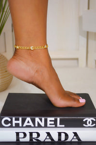 Moon And Star Chain Anklet (Gold)