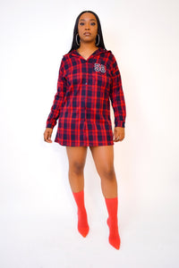 Iceland Plaid Shirt Dress