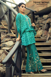 Teal Embroidered Top & Embroidered Trouser Outfit