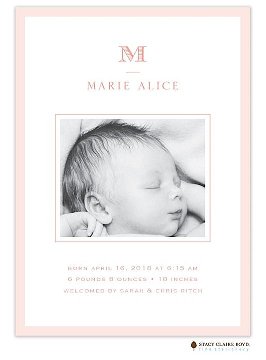 Girl Birth Announcements-Invitations-The Write Choice