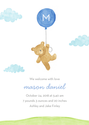 Boy Birth Announcements-Invitations-The Write Choice
