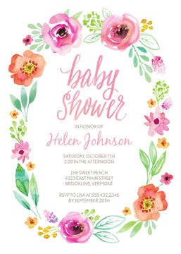 Baby Girl Shower Invitations-Invitations-The Write Choice