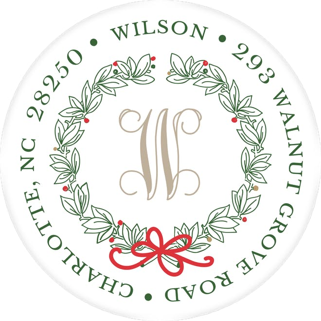 Christmas Return Address Labels-Return Address Label-The Write Choice