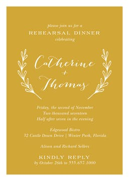 Rehearsal Dinner Invitations-Invitations-The Write Choice