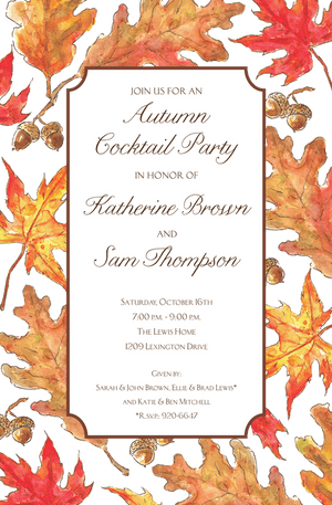 Fall Party Invitations-Invitations-The Write Choice
