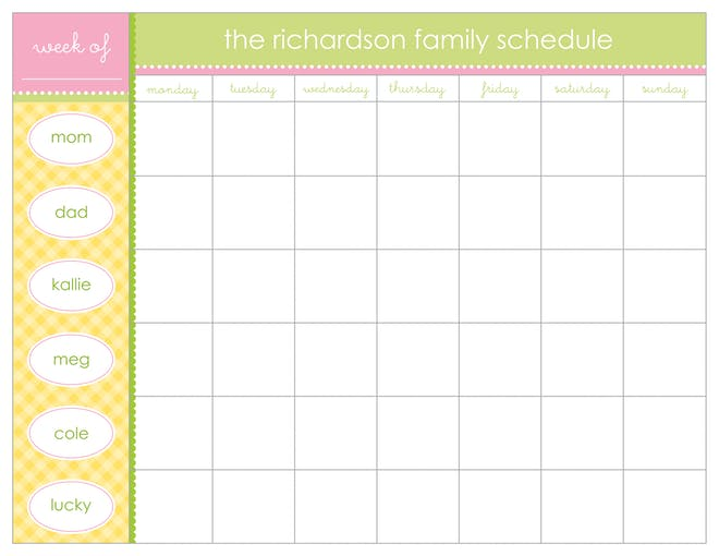 Weekly Scheduling Pads-Notepad-The Write Choice