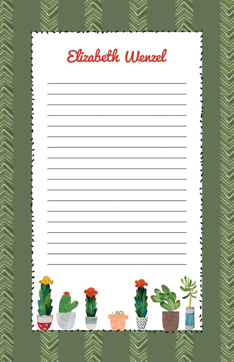 Cactus Notepad-Notepad-The Write Choice