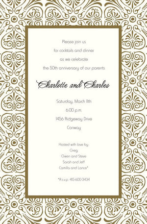 Anniversary Party Invitations-Invitations-The Write Choice